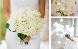 crisp white themed wedding inspiration