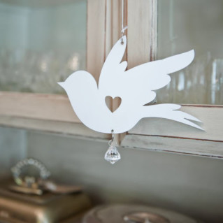 Wood - Bird Dove Crystal (2)