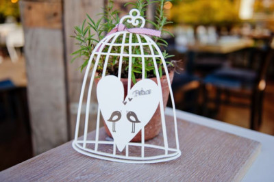 Wood - Birdcage with Charm & Birds