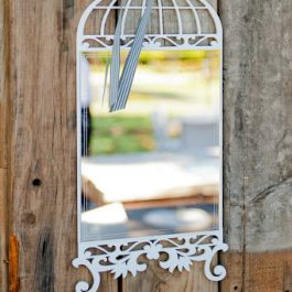 Wood - Birdcage with Perspex Mirror