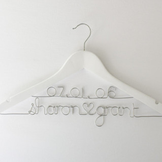 name and date dress hanger