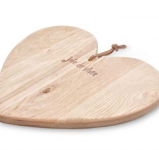 Wooden heart serving board