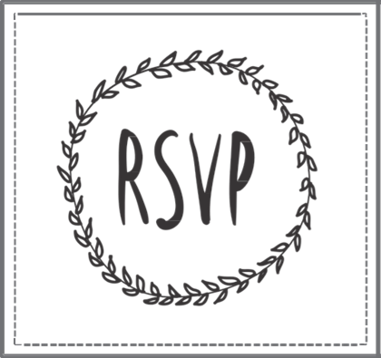 Rsvp Wreath Stamp 2 I Do Inspirations Wedding Venues