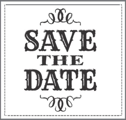 Save the Date Stamp 2 – I Do Inspirations