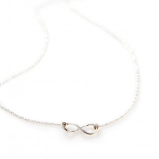 Infinity necklace silver