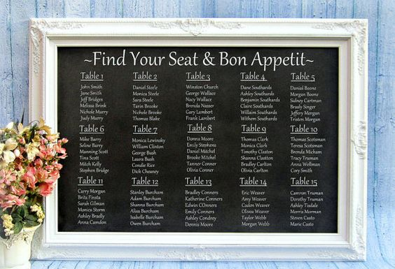 chalkboard wedding seating plan