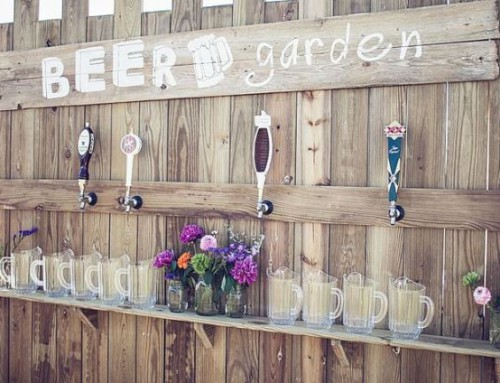 Cool Outdoor Wedding Bar Ideas