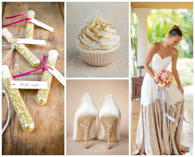 Gold Glitz Wedding Inspiration