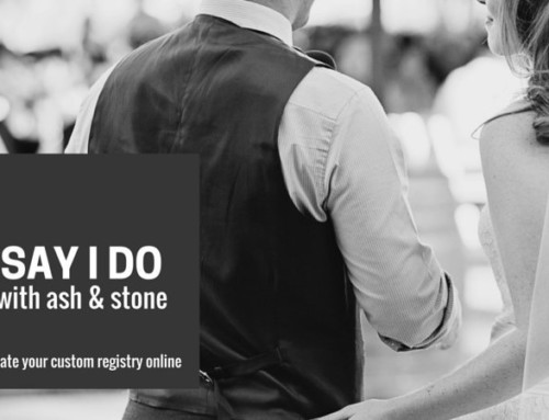 Introducing ash & stone Wedding Gift Registry