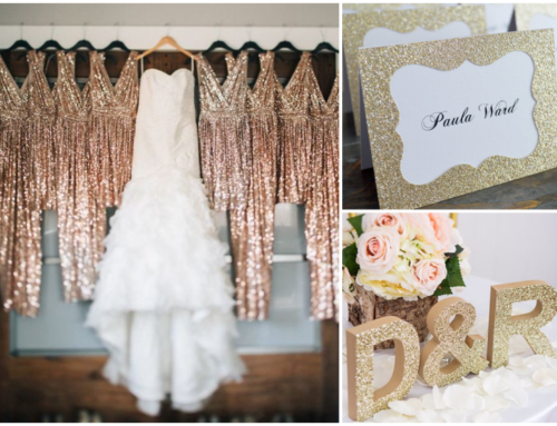 Glitter wedding inspiration