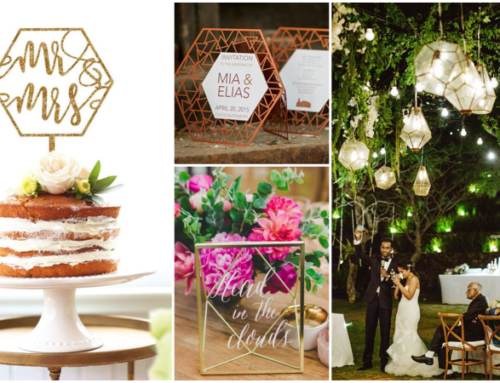 Wedding Trend 2016: Geometrics & Copper