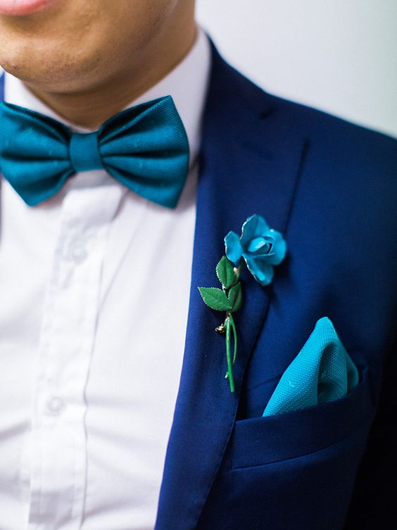 Navy Teal Blue Wedding Inspiration