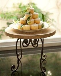 wooden wedding cake stand french design 2