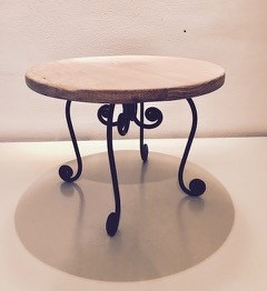 wooden wedding cake stand french design