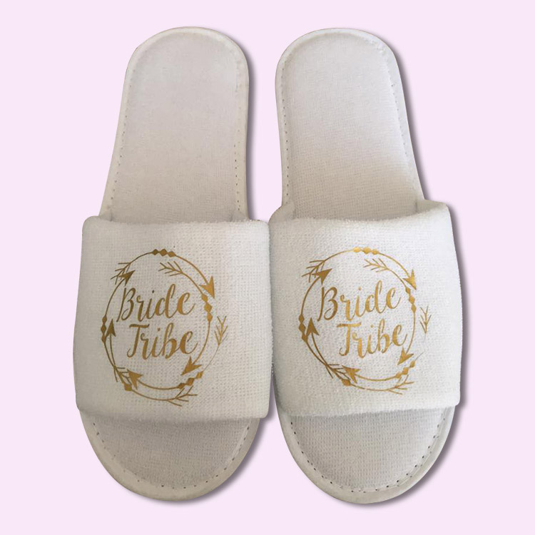 09e7f5984 Bride Tribe Wedding Slippers