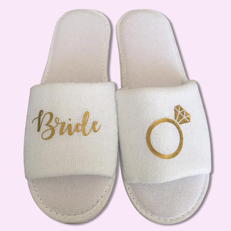 eb27d4f5c Bride Ring Wedding Slippers