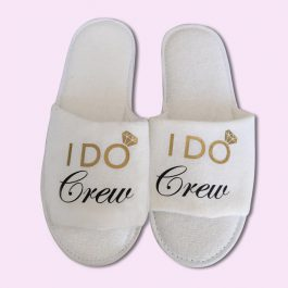 I Do Crew Wedding Slippers