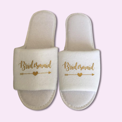 bridesmaid-heart-arrow-Wedding-Slippers