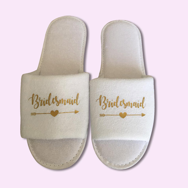 Personalized Wedding Slippers Bridal Party Slippers: Bridesmaid Wedding Slippers