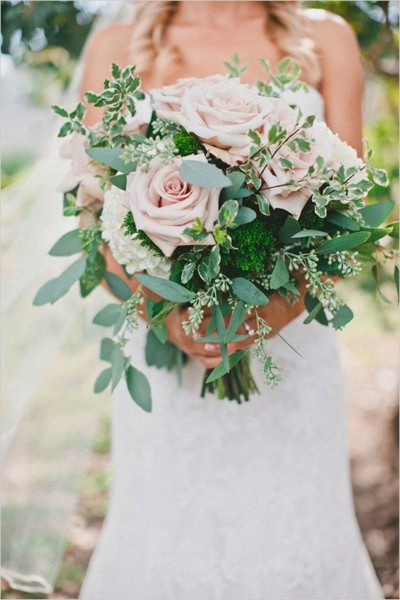 usty pink and green wedding colour theme 2018 4