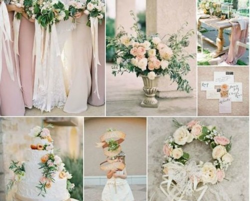 dusty pink and green wedding colour theme 2018