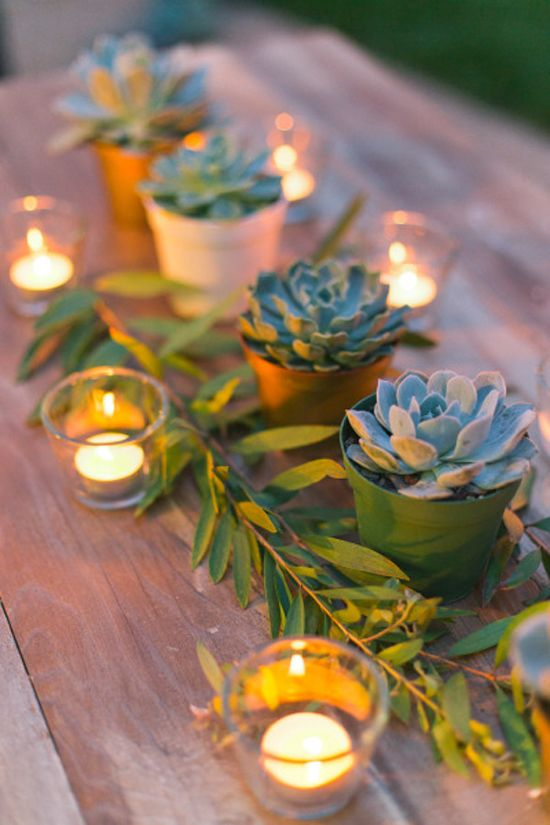 water wise wedding succulents decor flowers 18