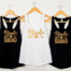 bridal party personalised outfits