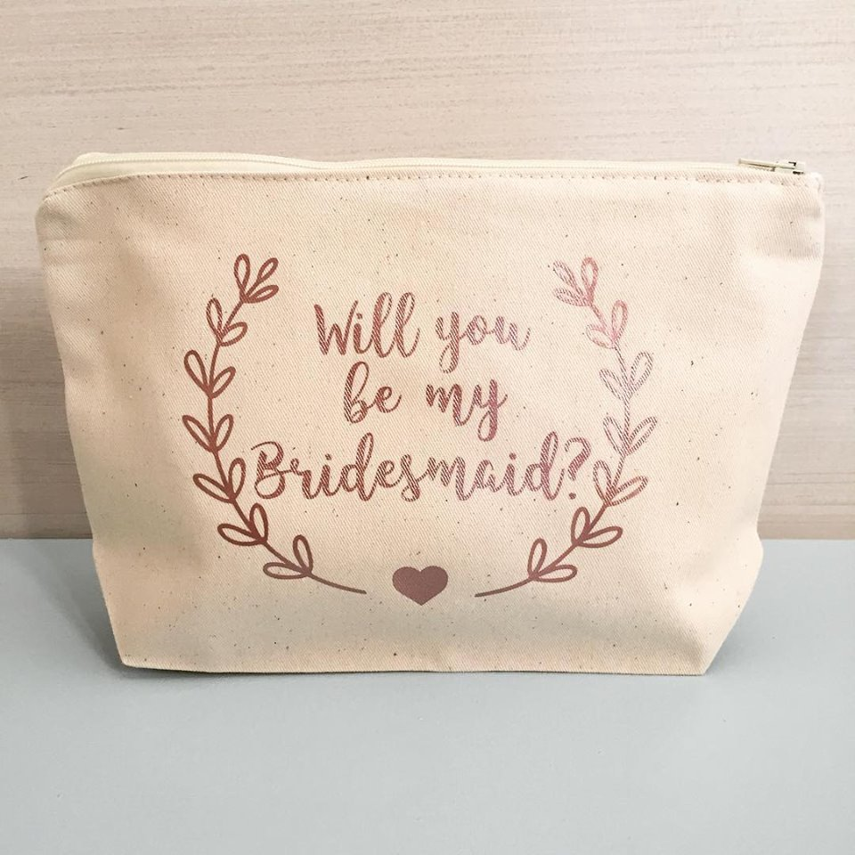 Be My Bridesmaid Make Up Bags