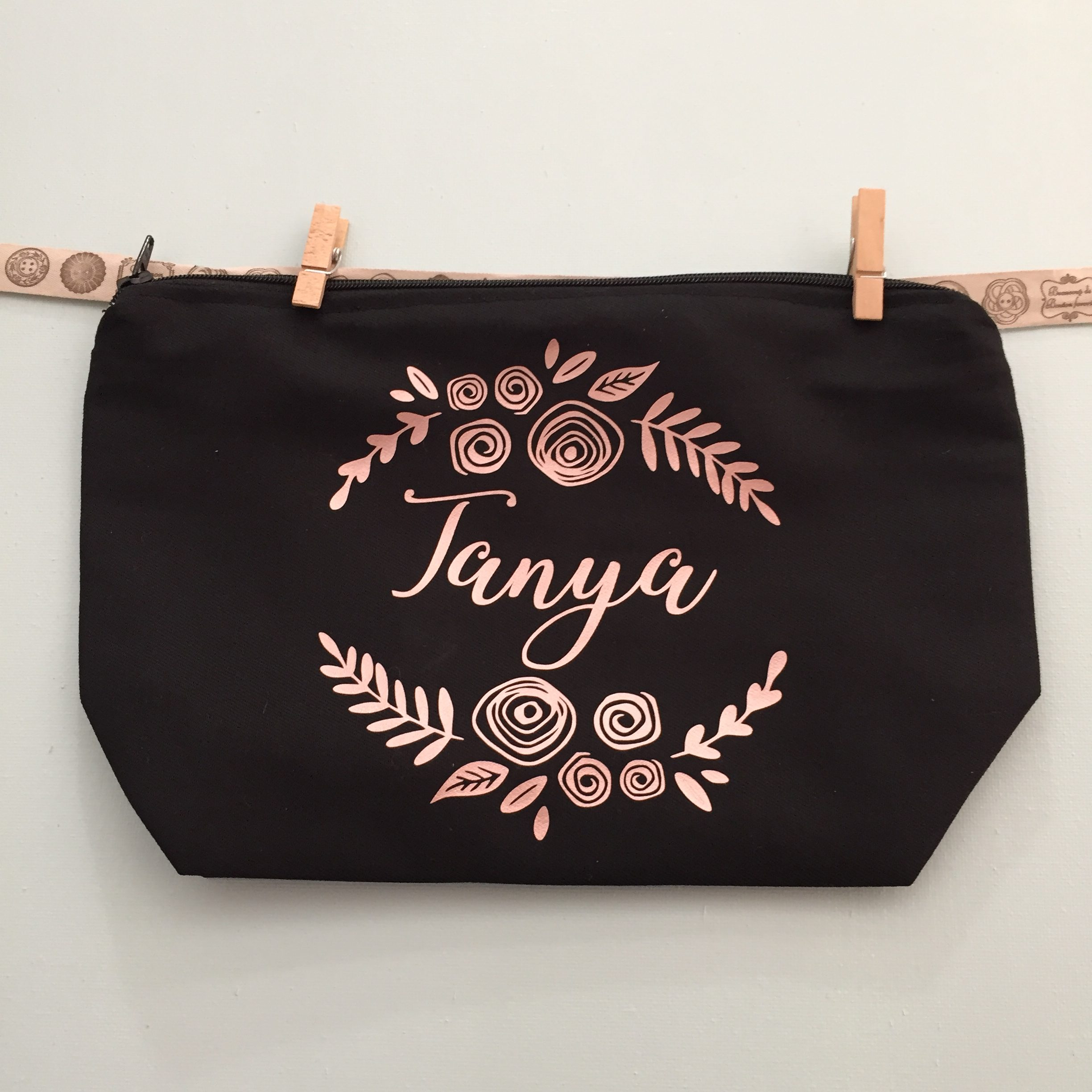 Personalised Floral Bridesmaid Make Up Bag