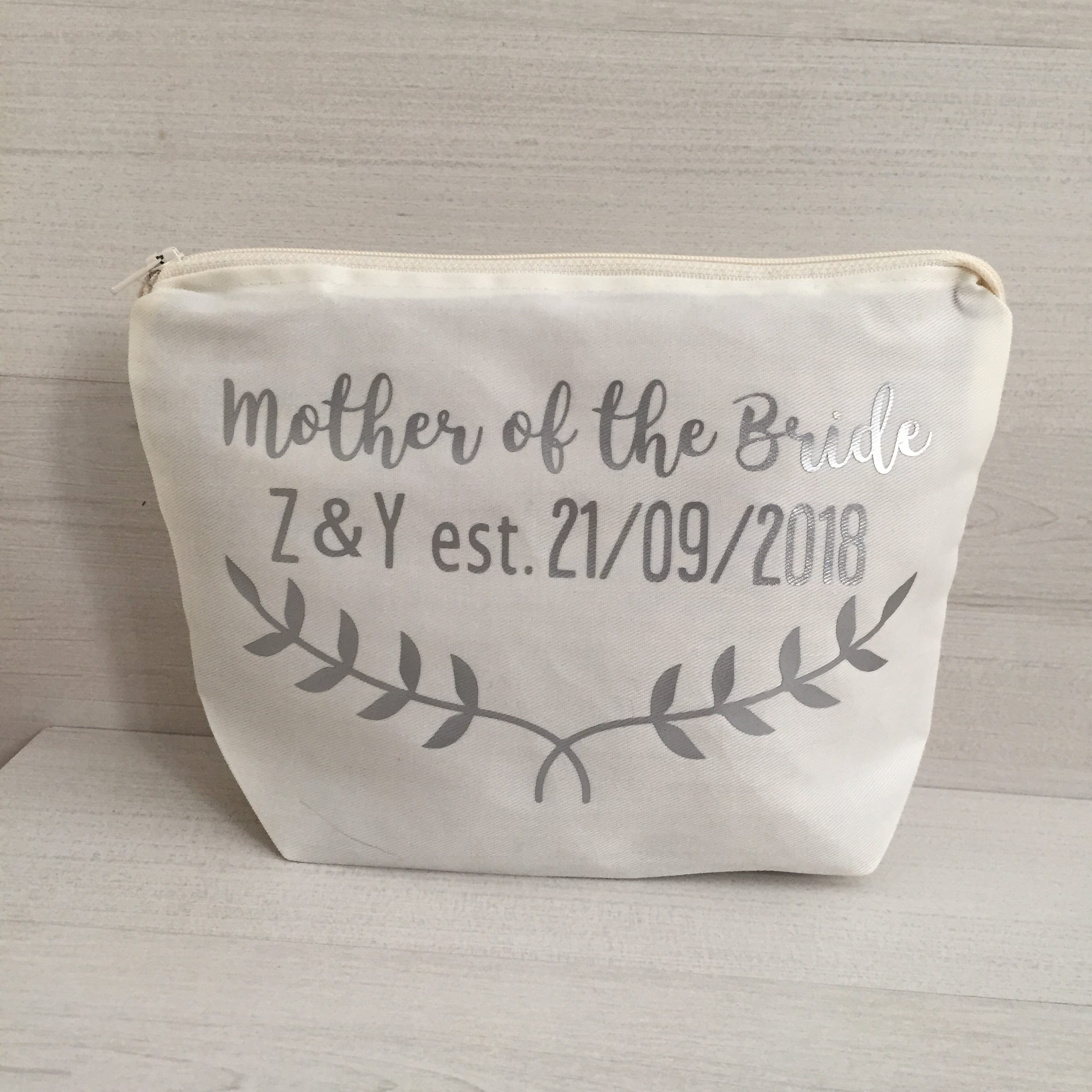 Personalised Mother of the Bride-Make-Up-Bag