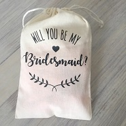 bridesmaid drawstring bag