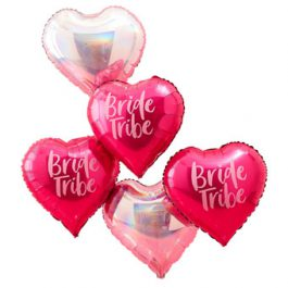 Bride-Tribe-Hen-Party-Bachelorette-Heart-Balloons