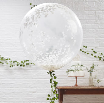 Clear-with-White-Confetti-balloon-wedding