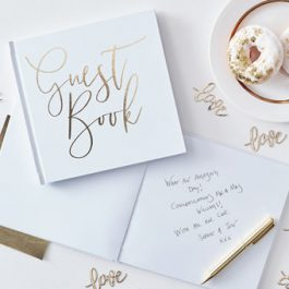 Gold Foiled Wedding Guest Book