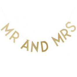 Gold Mr & Mrs Bunting