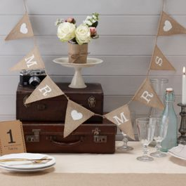 Hessian Mr & Mrs Bunting