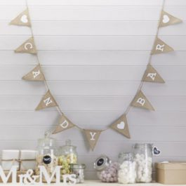 Hessian Candy Bar Bunting