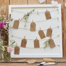 Peg & String Frame Guest Book