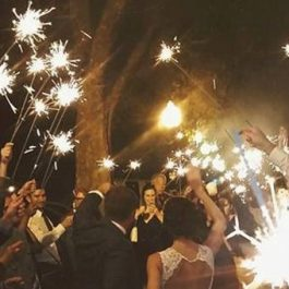 Wedding Sparklers and Fairy Lights