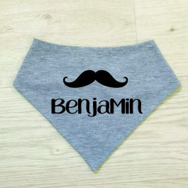 Custom-name-moustache-Baby-bib