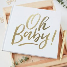 Gold-White-Babyshower-Guest-Book