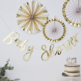 Gold-metallic-baby-shower-bunting