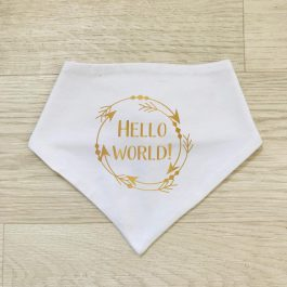 Hello World Bandana Bib