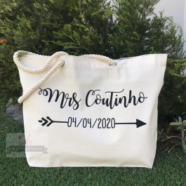 bride customised beach bag hen party bachelorette 2 wedding