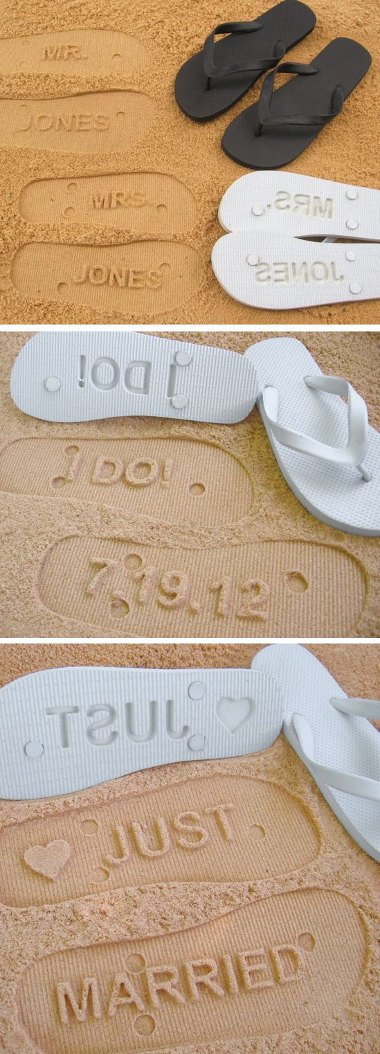 1c1d76c79 Wedding Flip Flops – Give Your Guests a Break!