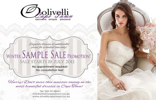 Winter Wedding Dress Sale At Olivelli Cape Town I Do Inspirations