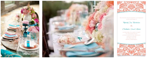 Turquoise & Coral Wedding 2a