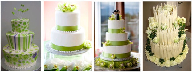 White Lime Green Wedding Theme