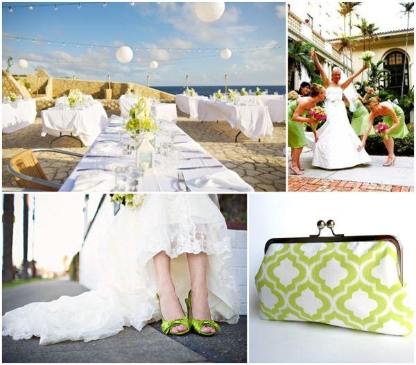 white lime green wedding (1)