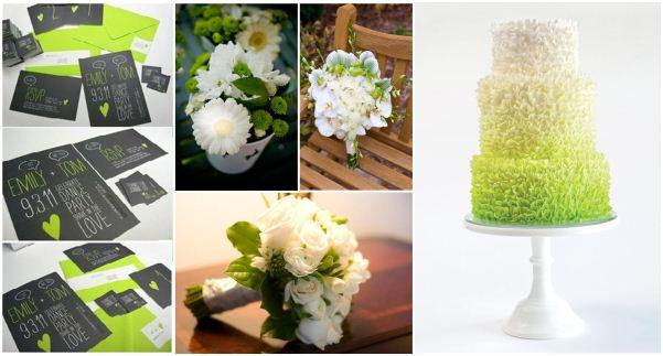 white lime green wedding (4)